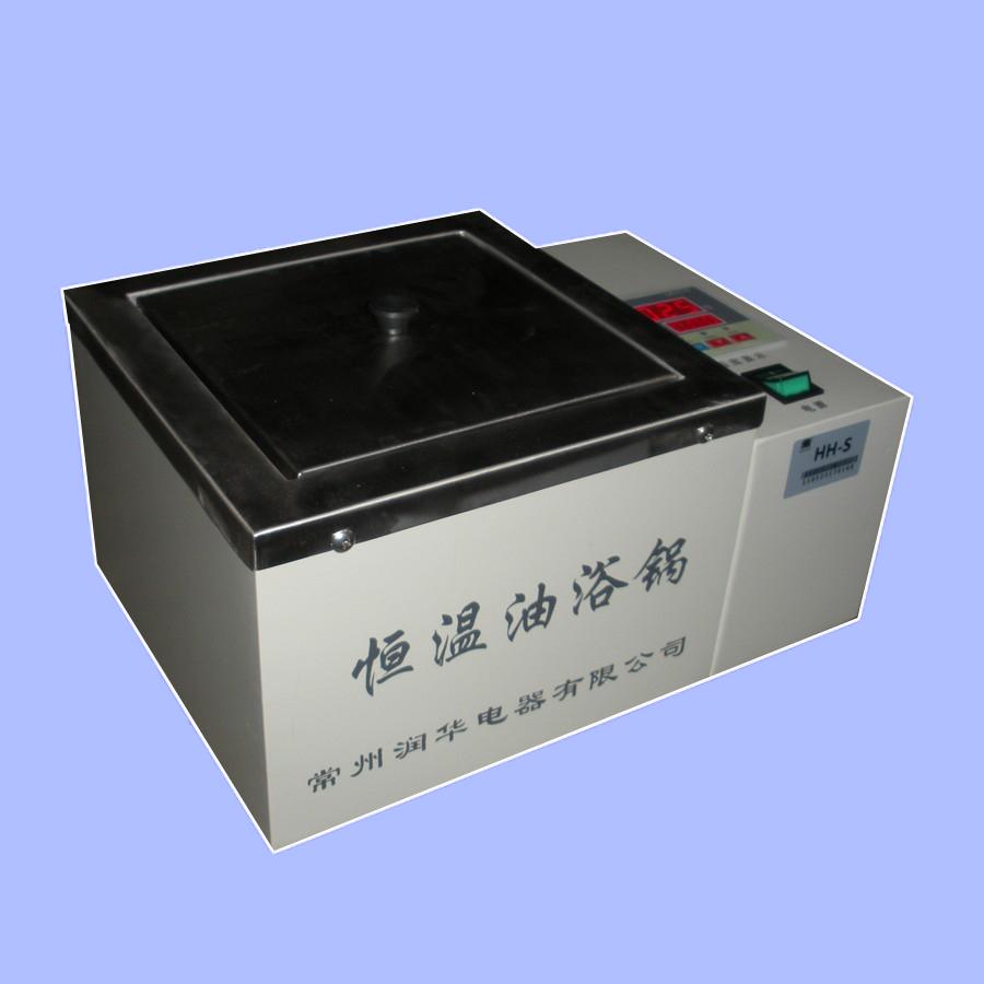 潤華儀器推薦 優質小型數顯控溫油浴鍋 HH-S 實驗油浴鍋