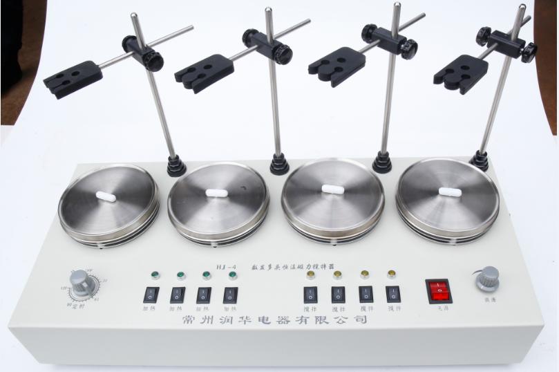四聯磁力攪拌器 HJ-4 定時 加熱 調速